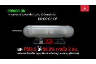 Saijo Denki ประสิทธิภาพระบบฟอกอากาศของ เครื่องปรับอากาศ TURBO A.P.S.